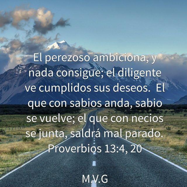 Versiculos De La Biblia De Animo: Galeria De Versiculos Biblicos: Proverbios 13:4,20