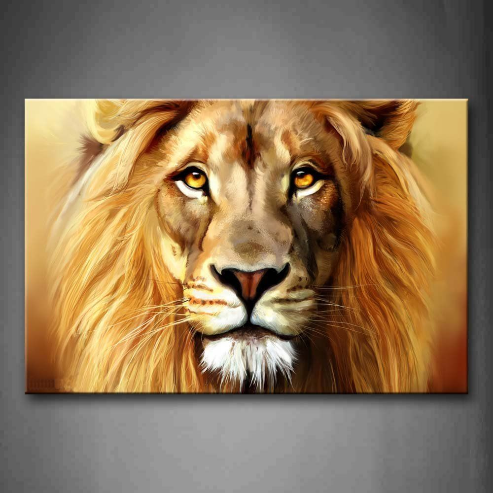 First Wall Art Brown Lion Head Portrait Wall Art Painting The Picture Print On Canvas Animal Pictures For Home Lion Canvas Wall Art Painting Canvas Wall Art