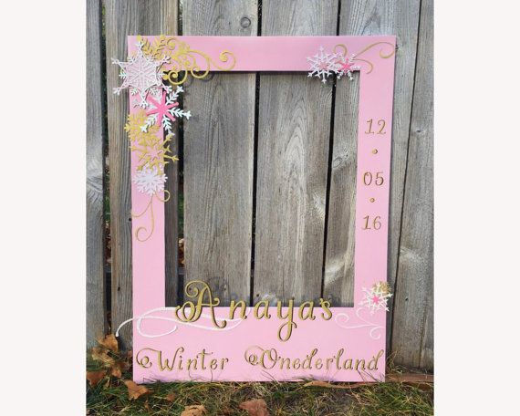 Child Birthday Photo Prop Giant Frame For Photo Booth Winter Wond