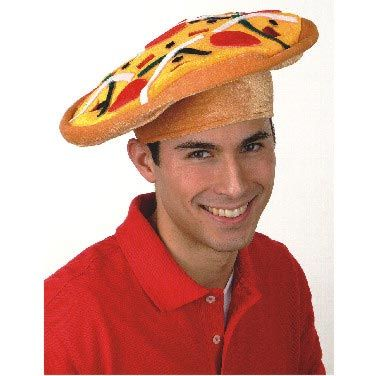 Velvet Pizza Hat - is it wrong that I want one?