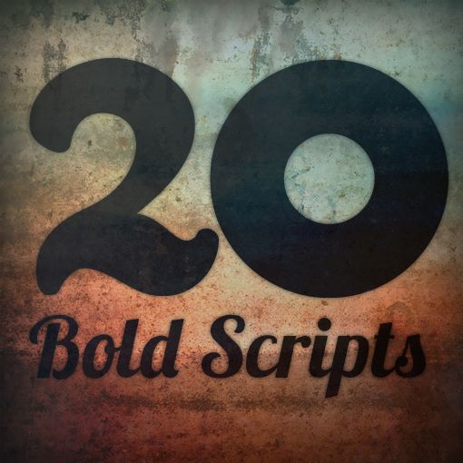 FREE - 20 Bold Script Fonts That You Don't Have to be a Girl to Use