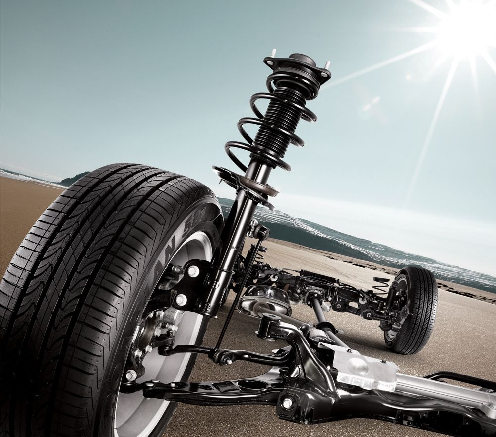 Multi Link Rear Suspension: Front And Rear Suspension. A Newly Designed McPherson