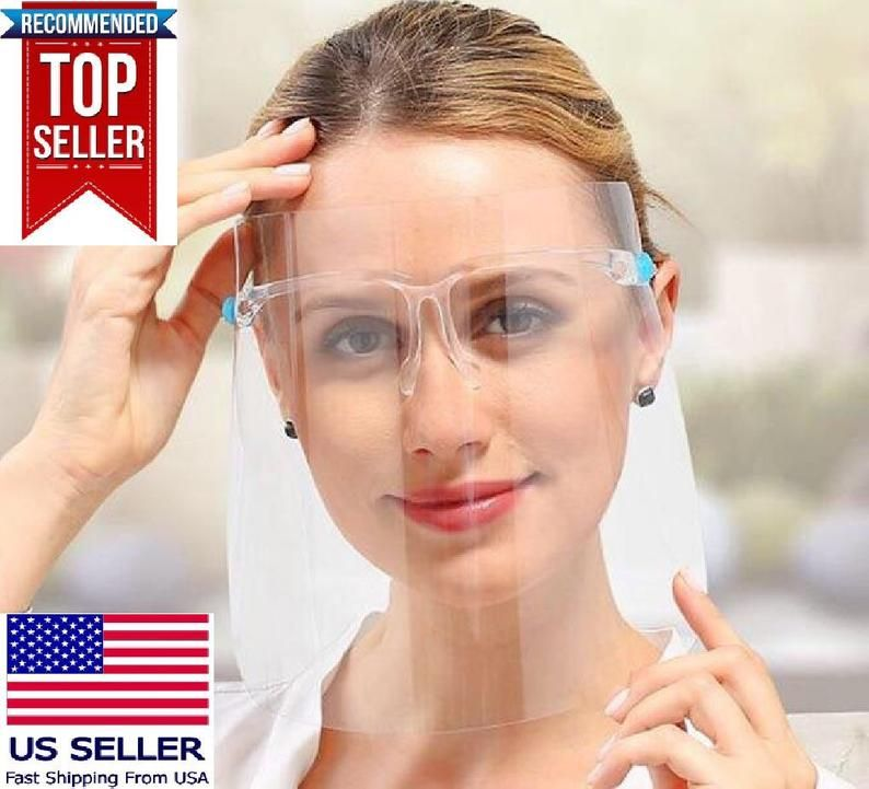 3pack100pack of face shield protective shield clear etsy