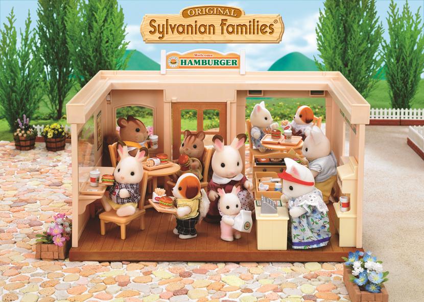 Le fast food drive du village Sylvanian. Sylvanian