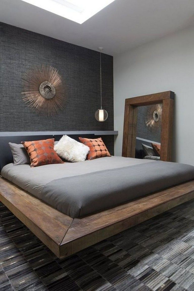 35 Masculine Bedroom Furniture Ideas That Inspire: 35 Good Contemporary Floating Bed Design Ideas