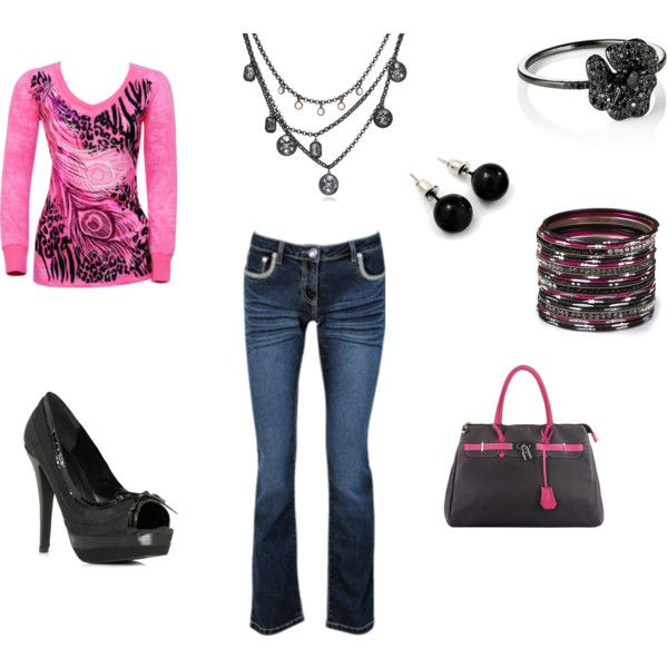 Pink and Black! Now this is something that I could wear everyday.