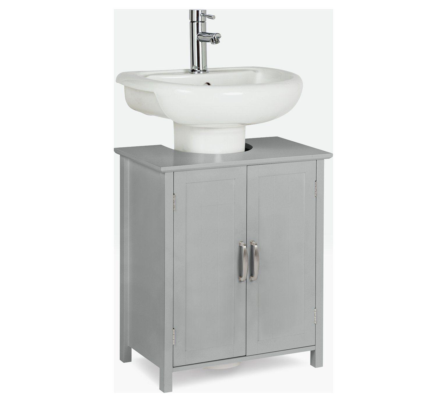 Home Tongue And Groove Undersink Storage Unit Grey Bathroom Shelves Bathroom Storage Grey