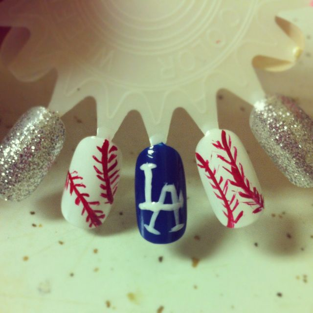 Los angeles dodgers nails all dolled up pinterest dodger los angeles dodgers nail art by me prinsesfo Images