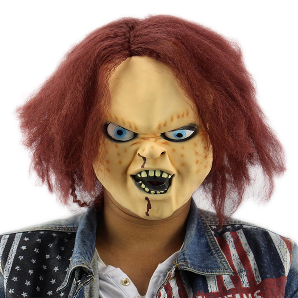 Horror latex mask for child play chucky action figures masquerade