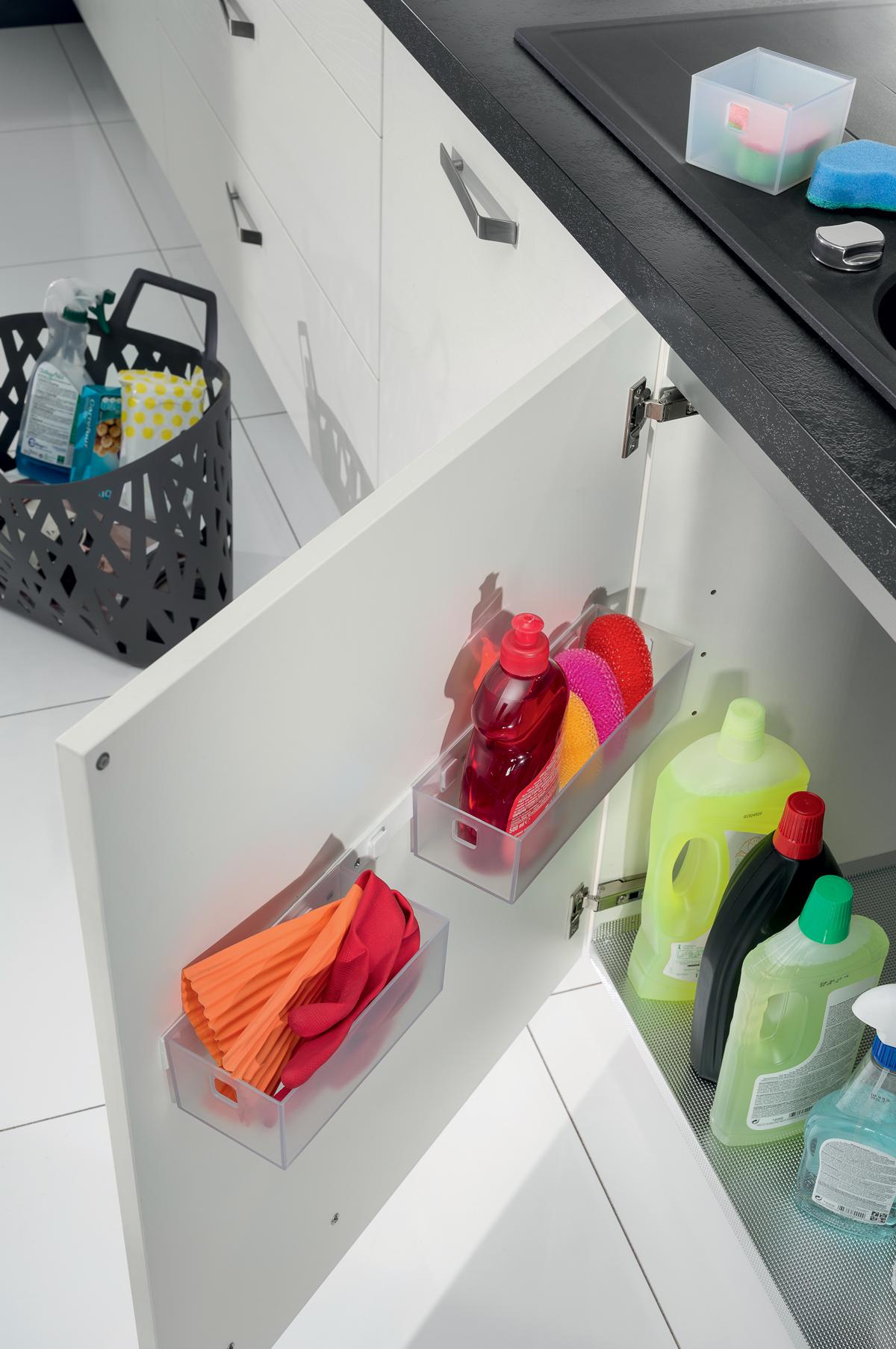 Meuble Bas De Rangement Pour Cuisine un range-éponge intégré au meuble bas sous-évier, ni vu ni