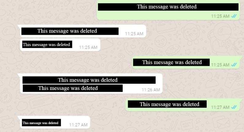 Whatsapp Testing Unsend Feature That Lets You Delete Embarrassing Texts Whatsapp Message Messages Whatsapp Deleted