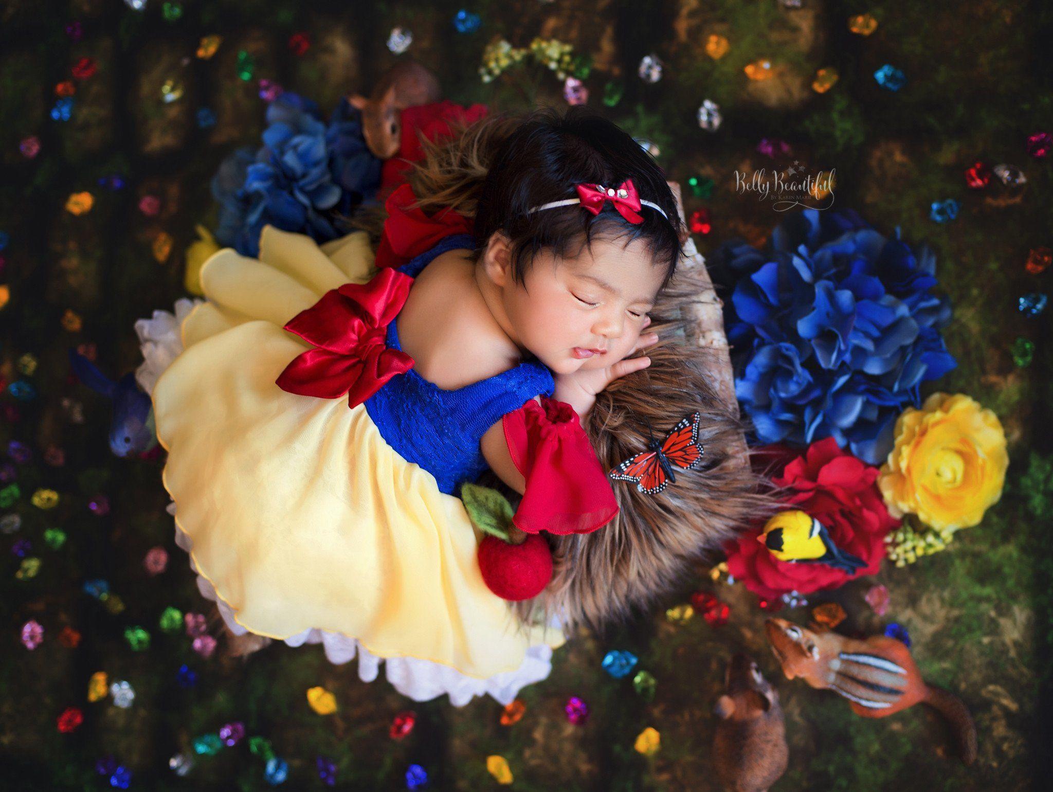 Snow White Newborn Photography