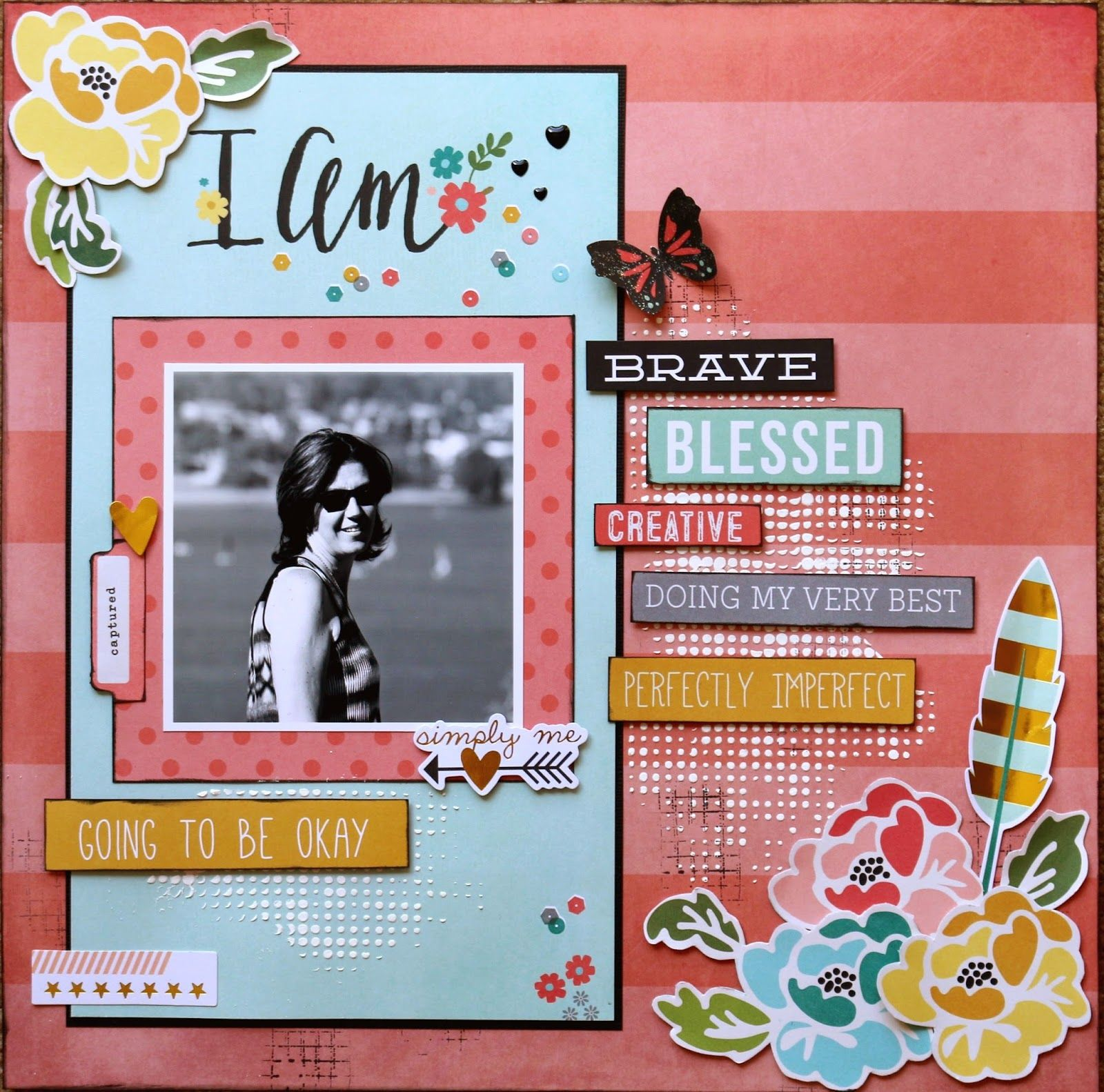 My Creative Footprints March Sketch Challenge At The Scrapbook
