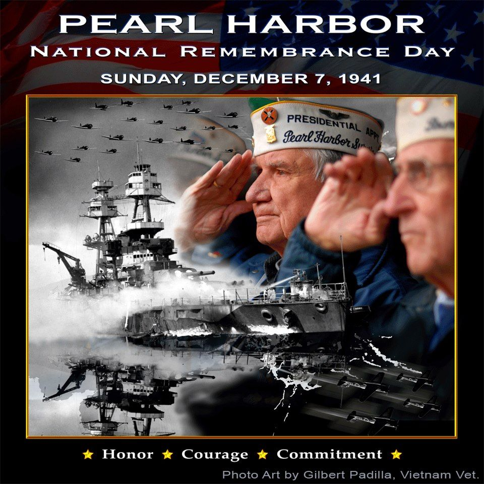 Image result for remember pearl harbor vets