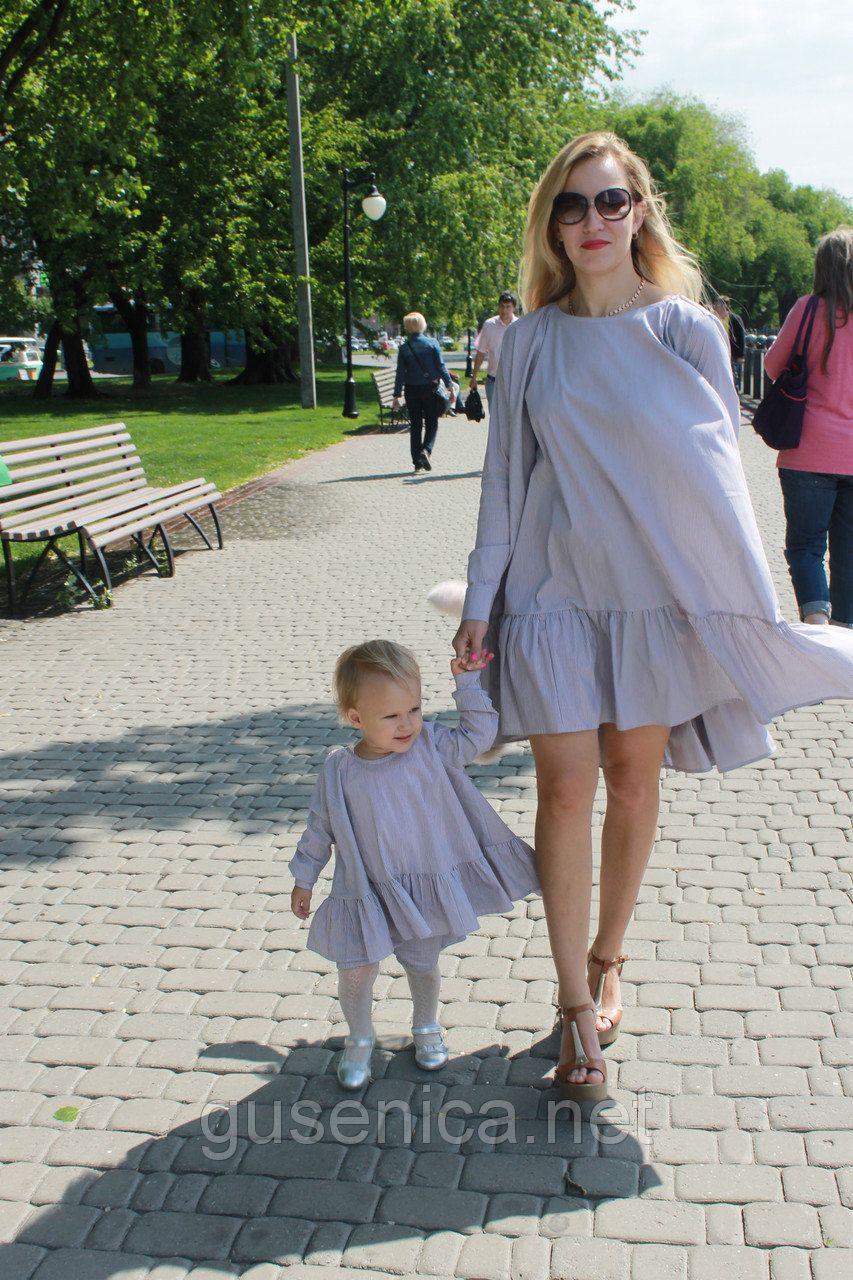 d387c40f028 Летние платья с воланами для мамы и дочки