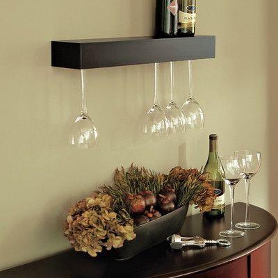 nexxt Design Pinot 15 Bottle Wall Mount Wine Glass Rack & Reviews ...