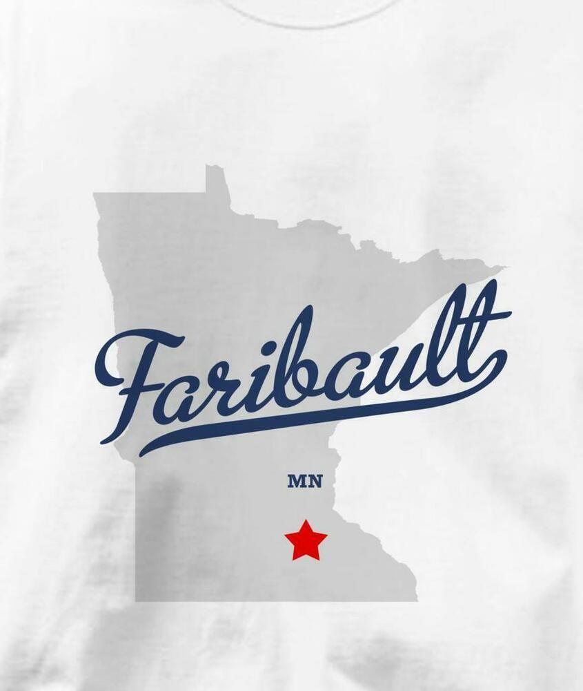 f2f241638b6a Faribault Minnesota MN T-Shirt Souvenir MAP #fashion #clothing #shoes  #accessories