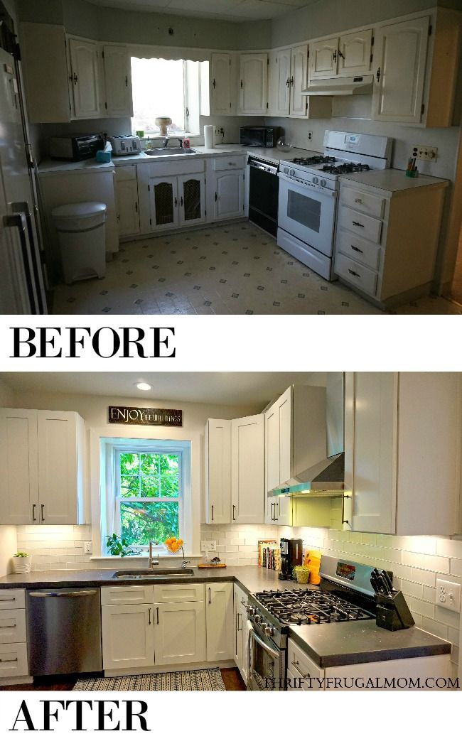 Budget Friendly Classic White Kitchen Remodel All The Details Cheap Kitchen Remodel Kitchen Remodel Cost White Kitchen Remodeling