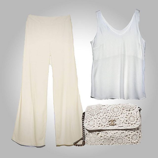 Look Básico All White! #momentobasico #calçapantalona #regatasardenha