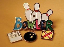 1 Bowler Pin By Bowling Delights 3 95 Charms Dangle This Charmer Pin For The 1 Bowler In Your World Has A Dangling Score Card Ball An With Images Brooch Pin Brooch