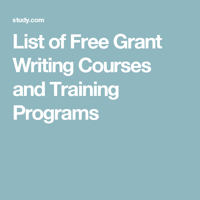 free grant writing classes in nc