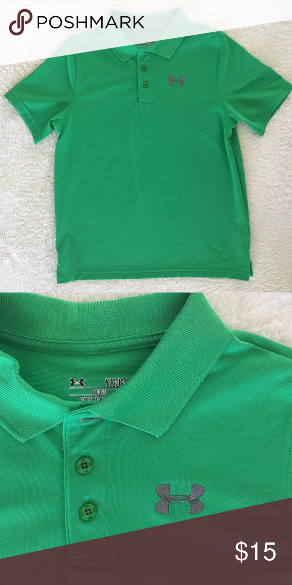 f849b1c15 Under Amour boys Golf Polo Shirt Under Armour boys youth large green golf  shirt Under Armour Shirts & Tops Polos