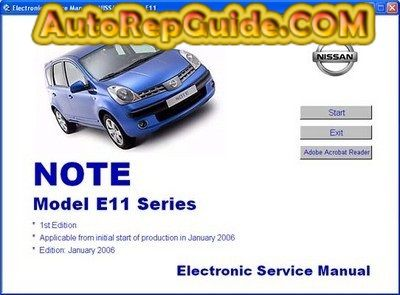 Download free - Nissan Note Model E11 Series Electronic