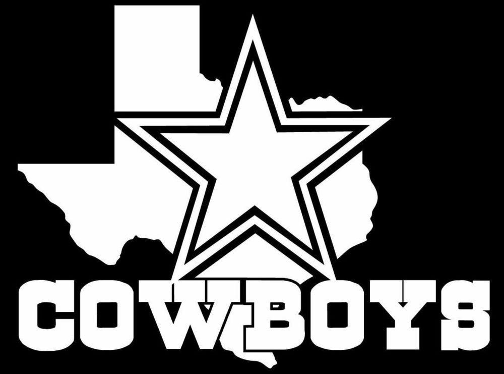 4dd1f2a4 Dallas Cowboys w/Texas NFL Vinyl Car Decal 100% Weather Proof 6 Life ...