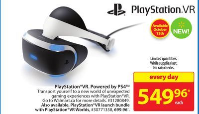Shared from Flipp: PlayStation®VR. Powered by PS4™ in the Walmart flyer