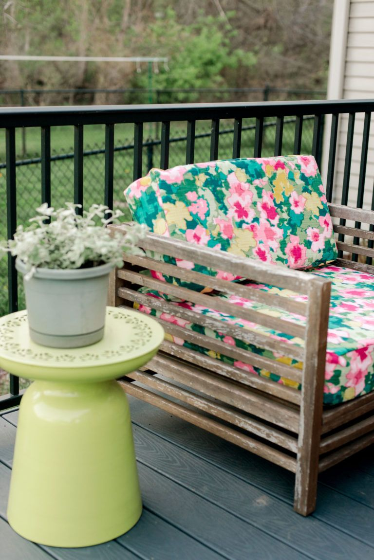 A full diy on how easy it is to recover patio cushions