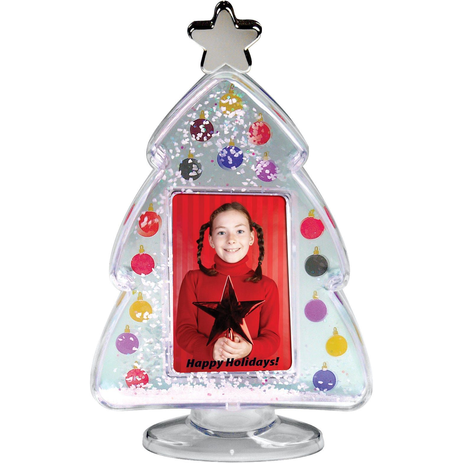 Promo Photo Christmas Tree Snow Globes Giveaway Frames