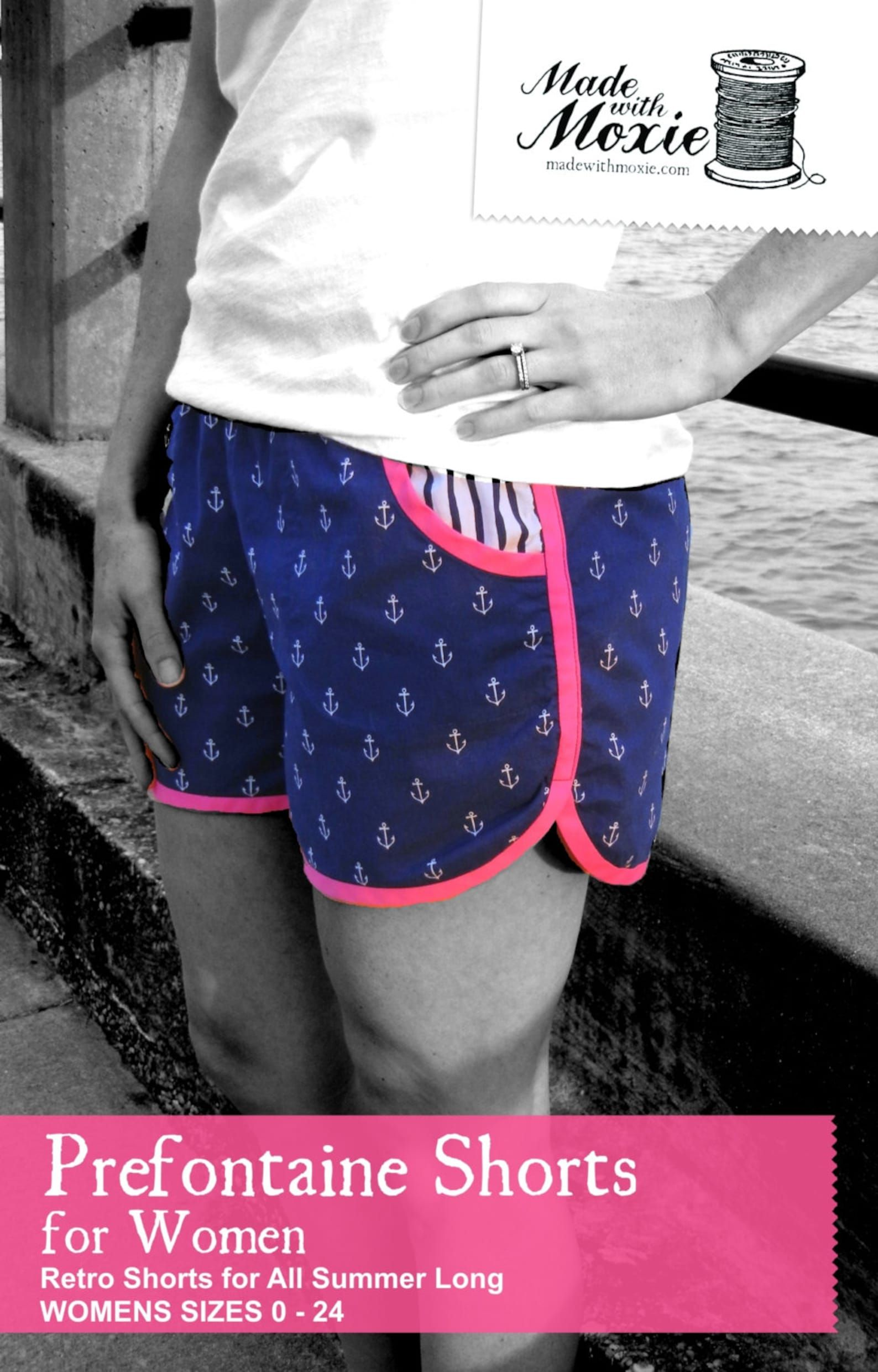 Prefontaine Shorts for Women PDF Sewing Pattern   Etsy