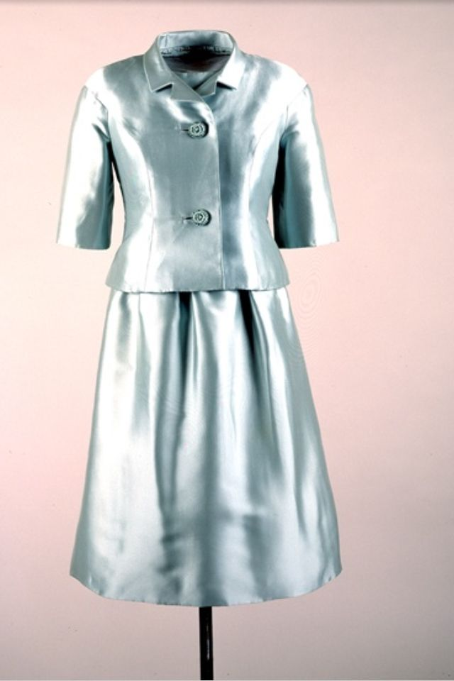 Jackie Kennedy 1962 India Trip - Ice Blue Dress with Jacket Designer ...