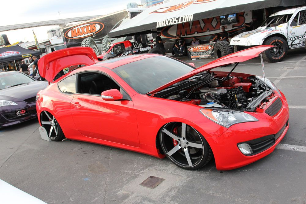 Rolls Into SEMA 2012 With A Red Hot 2011 Hyundai Genesis Coupe