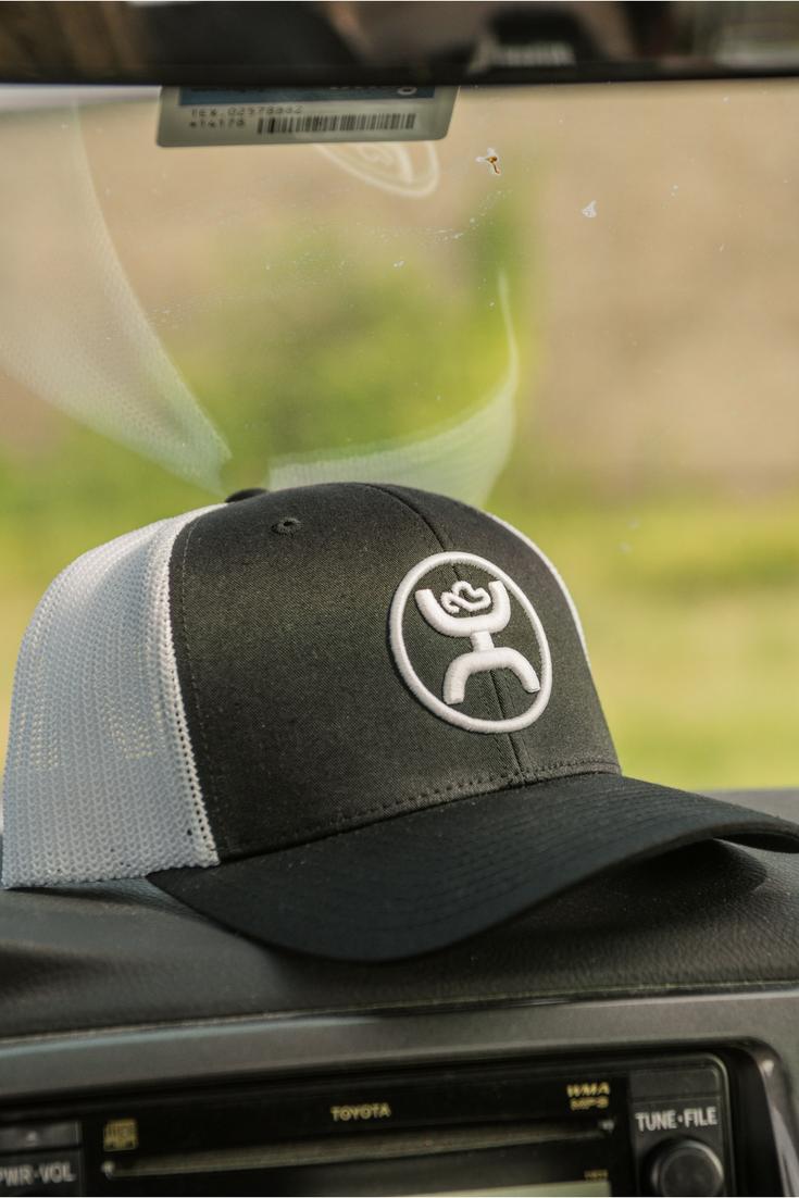 d4d6d3e78db7f6 HOOey Men's Black with White Logo & Mesh Back Cap | Cowboy Hats ...