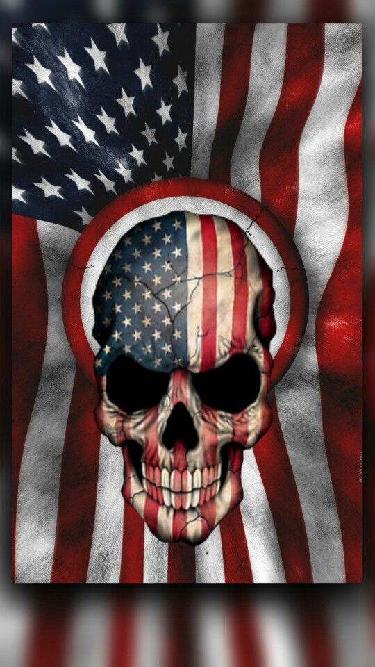 American Flag Skull Wallpaper : american, skull, wallpaper, Skull, Wallpaper,, Artwork,