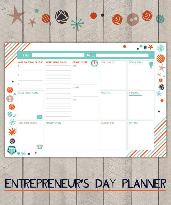 business planner work day planner business organiser daily