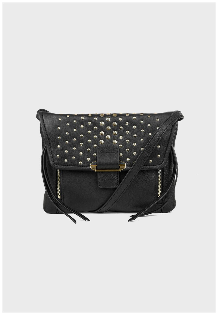 Reed Mini Convertible Crossbody natural leather in Black