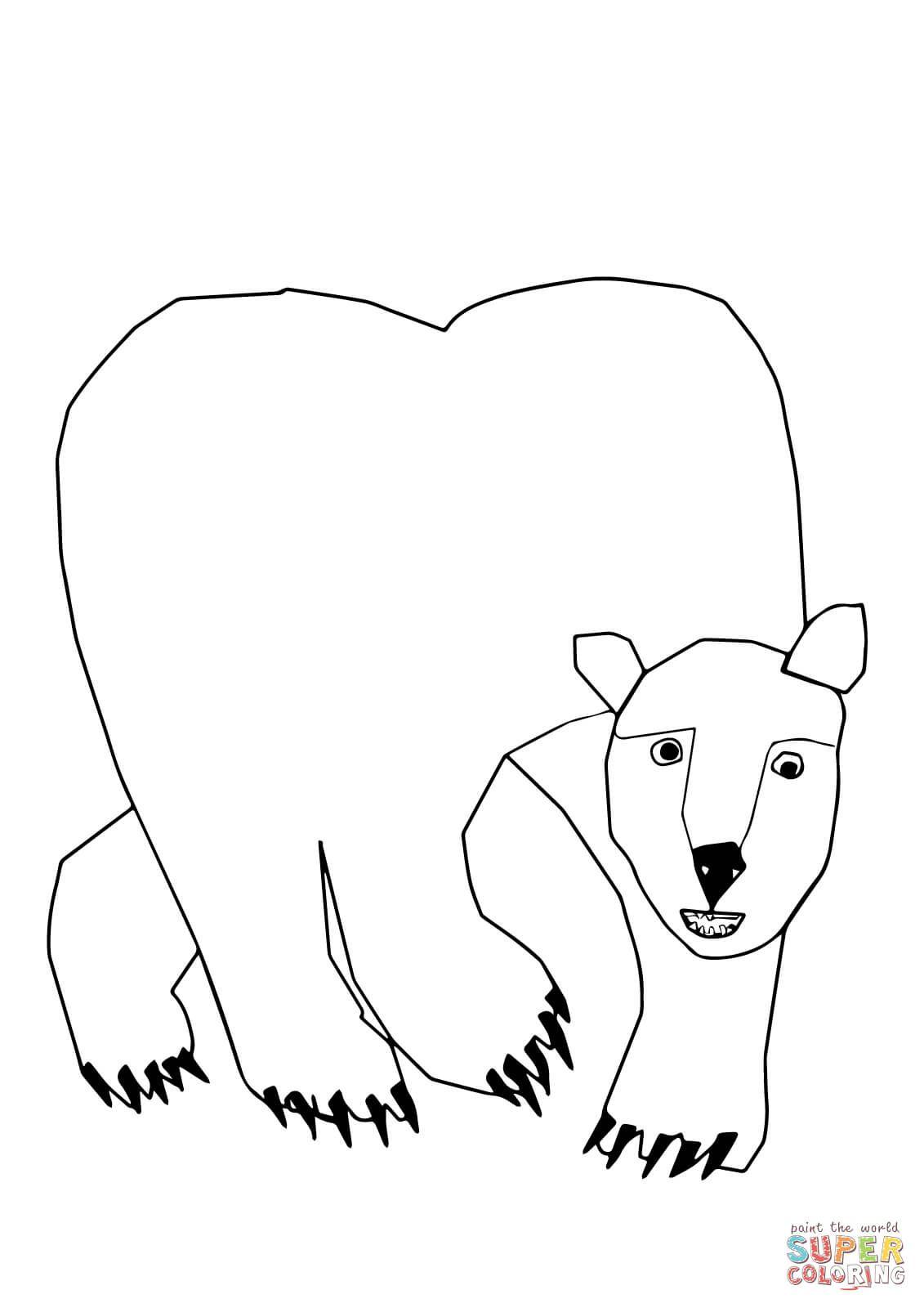 Polar Bear Polar Bear What Do You Hear Super Coloring Polar Bear Coloring Page Polar Bear Color Animal Coloring Pages