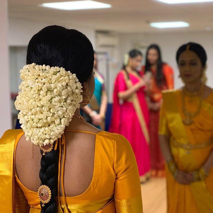 Image May Contain 1 Person Standing Bridal Hairdo Hairdo Wedding Indian Bridal Hairstyles