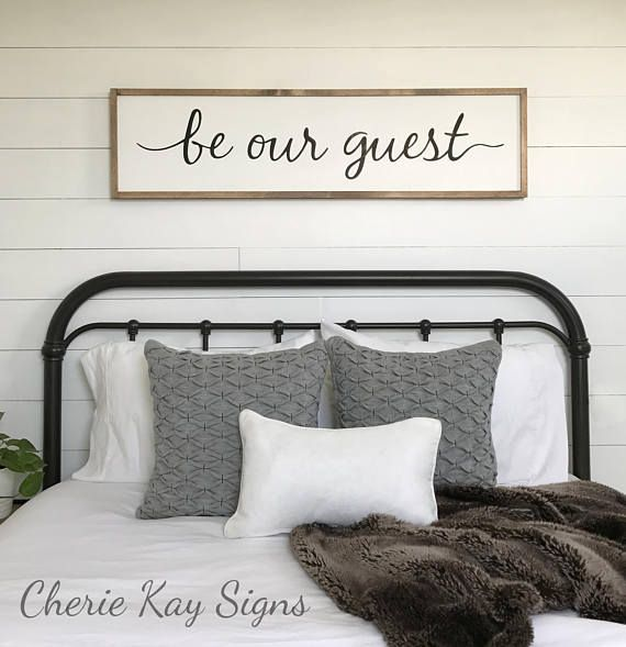 Guest Room Sign Decor Extraordinary Guest Room Decor  Be Our Guest Sign  Framed Sign  Wood Sign Decorating Inspiration