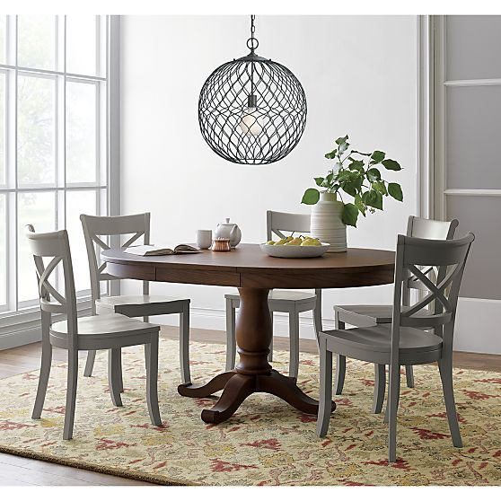 "For Kitchen Nook Avalon 45"" Tea Brown Extension Dining Table In Pleasing Barrel Dining Room Chairs Decorating Inspiration"