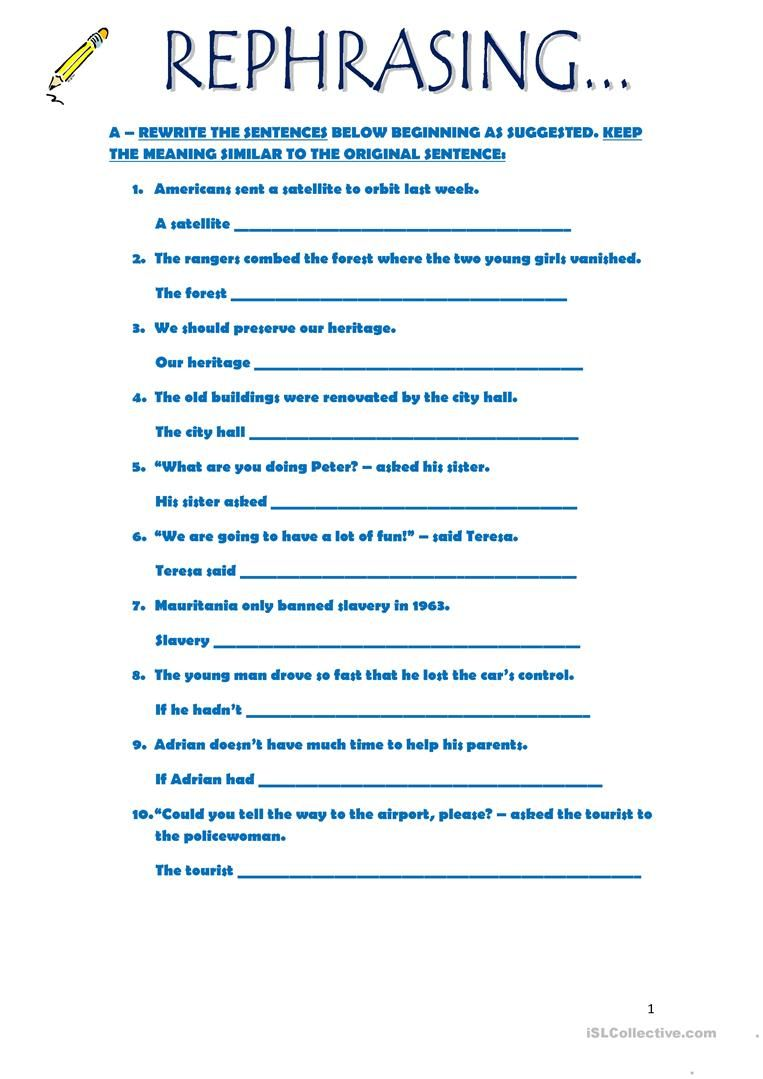 medium resolution of rephrasing   English writing skills