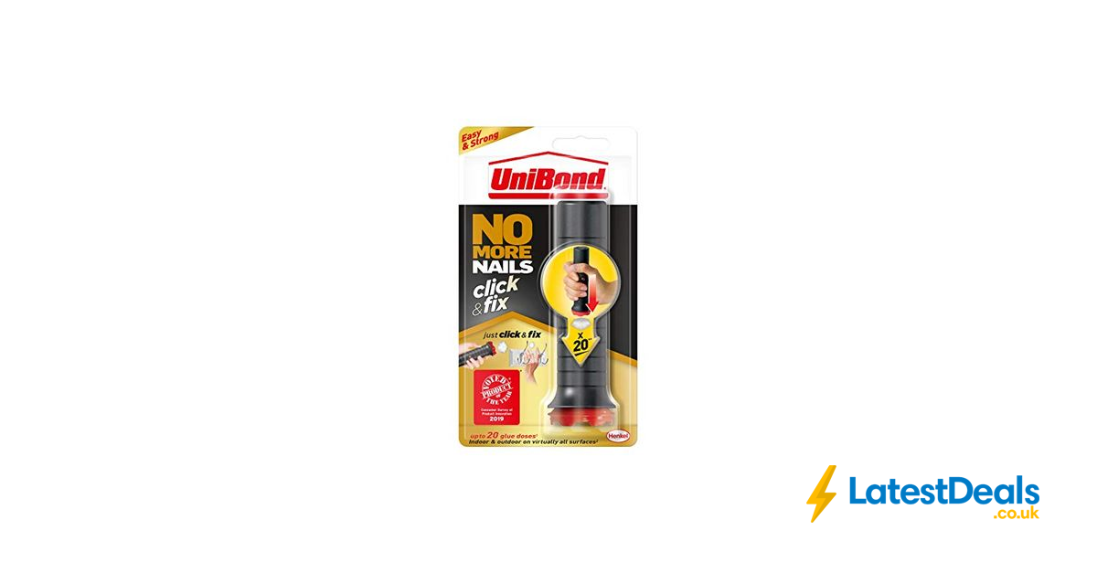 Unibond No More Nails Click Fix Easy To Use Instant Grab Adhesive 5 76 At Amazon Adhesive Waterproof Glue Strongest Glue