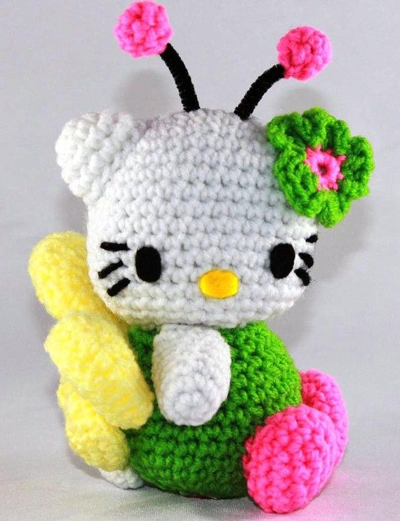 Hello Kitty Doll Bright Fairy Crocheted | muñecos crochet ...