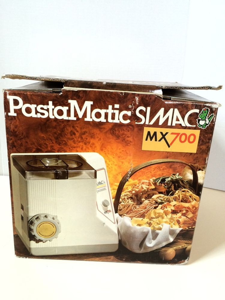 Simac Pastamatic Mx700 Pasta Maker Many Accessories Box