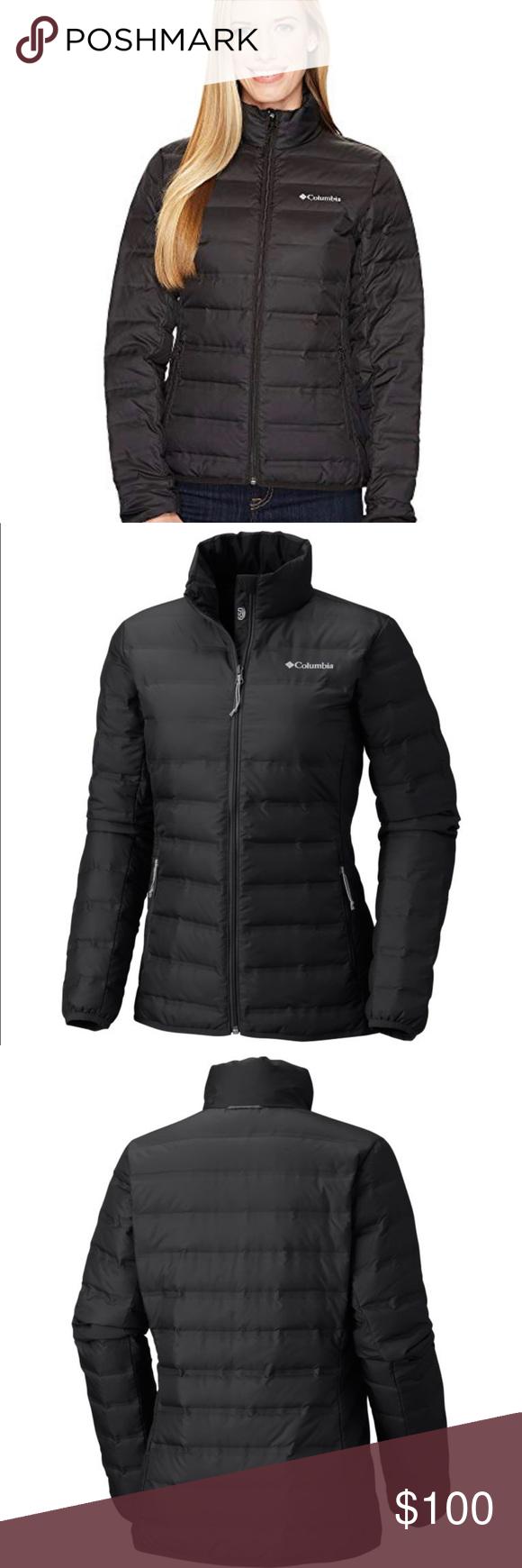 3ecede4468b Columbia lake 22 jacket plus size Size 3x black Down zip up warm winter coat .