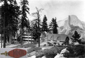 The Glacier Point Hotel was a historic 80-room chalet-style hotel built on the grounds of Glacier Point overlooking Yosemite Valley, CA, adjacent to the McCauley Mountain House. It was known as the venue for the Yosemite Firefall spectacle. Opened 1918 it was taken over by the Yosemite Park & Curry Company in 1924. Severely damaged by snowfall in winter 1968-69 it was still empty when it was destroyed in a fire in July 1969