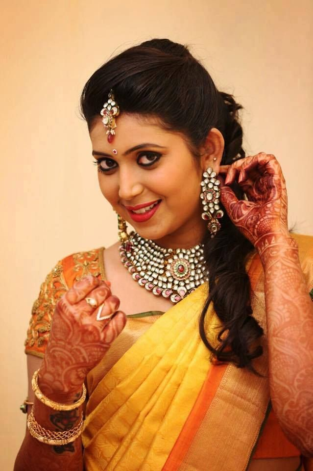 South Indian Bridal Front Hairstyles Southindian Bridalhairstyle Indian Bridal Hairstyles Indian Hairstyles South Indian Hairstyle