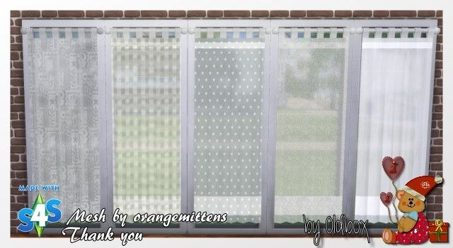 Curtains by oldbox at all 4 sims via sims 4 updates sims - Sims 3 spielideen ...
